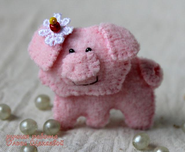 поросенок, свинка, китайский гороскоп, ёлочная игрушка
