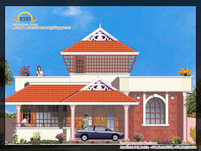 House plan and elevation 201 Square Meter (2165 Sq. Ft)