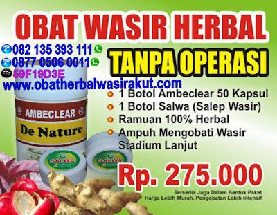 Obat wasir herbal atau obat ambeien herbal manjur untuk gejala wasir atau gejala ambeien umum