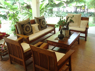 Jordans furniture: Teak Living Room Furniture Set
