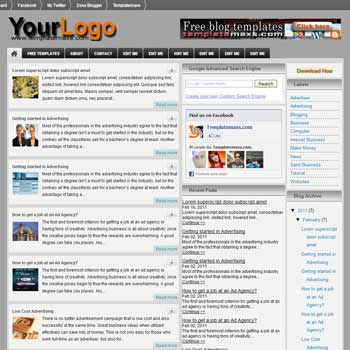 Blogsquare blogger template. free blogspot template. 3 column magazine style blogger template