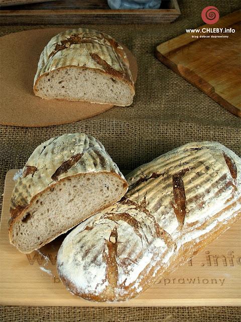 Chleb pszenno-żytni na zakwasie pszennym (chleb z Vermont)