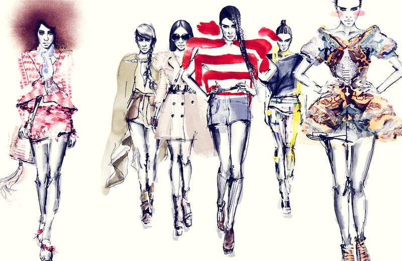 fashion illustration, sabine pieper, elle UK