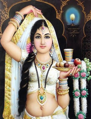 Indian Art Painting: A Beautiful Rajasthani Women 2