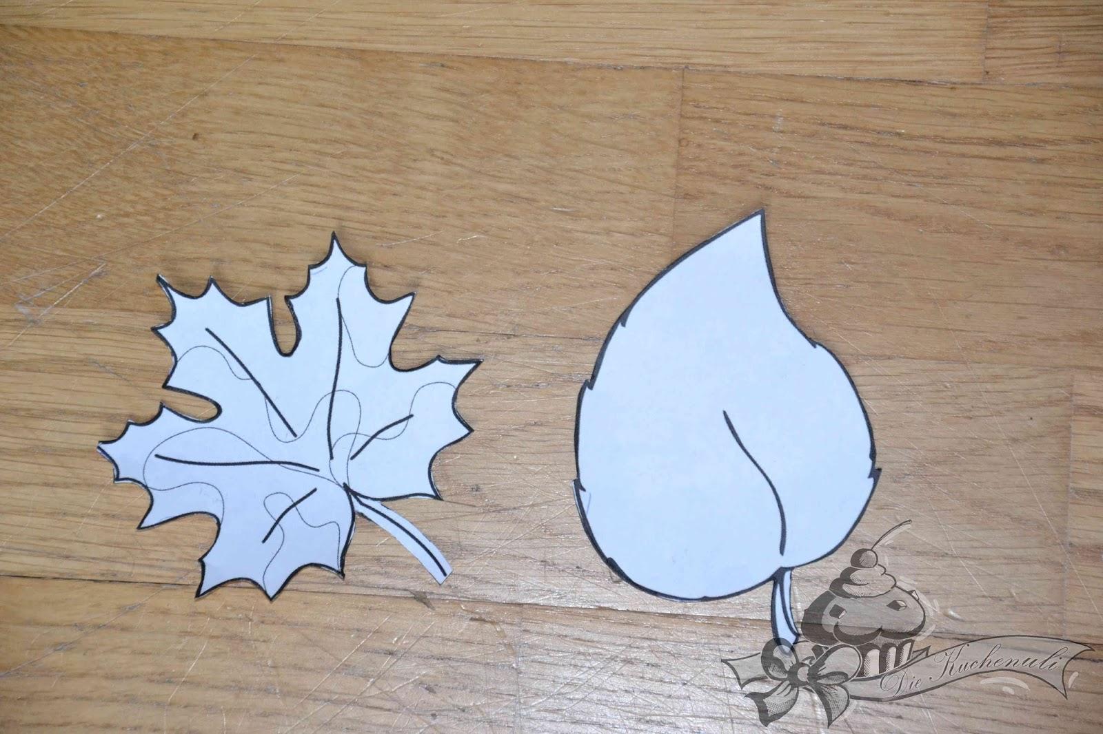 Die Kuchenuli: Basteln mit den Größeren - Herbstlaub aus Filz