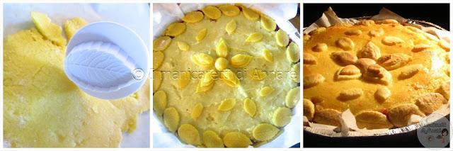 crostata di marmellata di amarene  e crema pasticcera