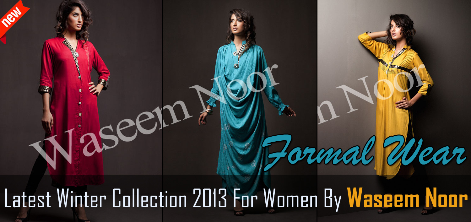 Winter Collection 2013 For Women By Waseem Noor | Winter Wear Formal