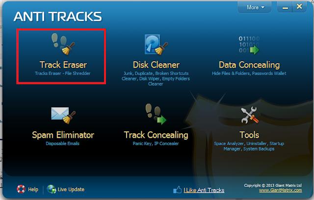 برنامج Anti tracks : لمسح آثارك من على أي حاسوب إستعملته