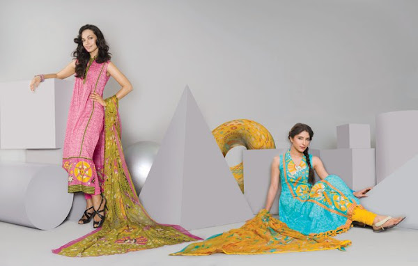 Wardha Saleem Lawn Spring Dress Collection 2012