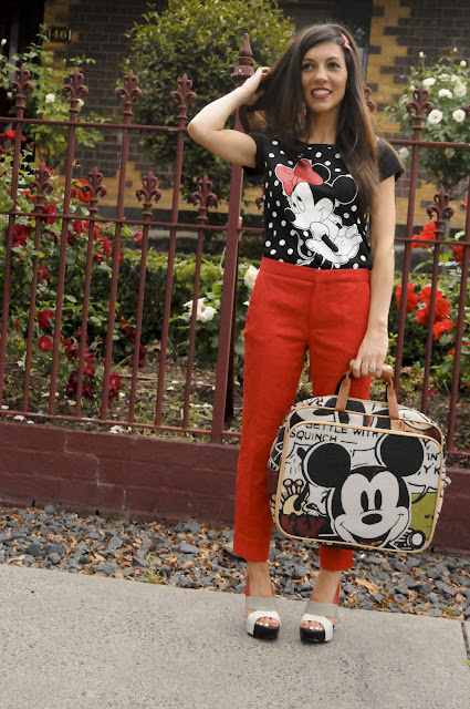 Dressing up with Mickey!