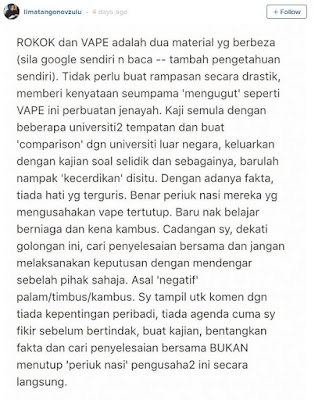 Kebenaran Yang Sebenar Ikon Vape Negara Anak Tpm Zahid Hamidi