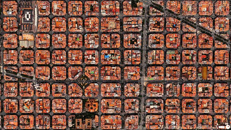 Foto mozzafiato: Spagna: Barcellona - Distretto Eixample