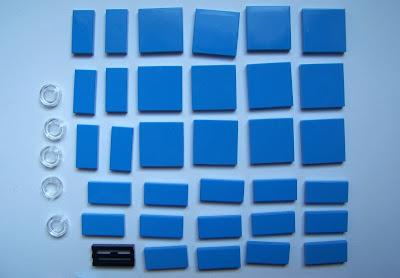 LEGO Medium blue tile