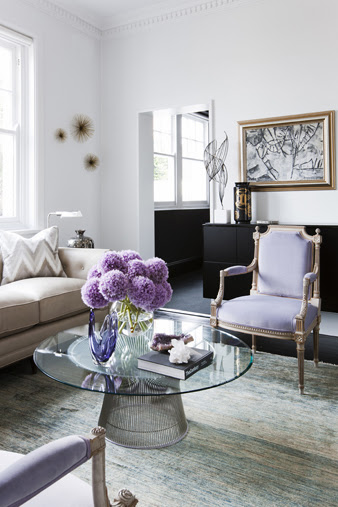 Living with lavender this or that nbaynadamas for Mauve living room decor