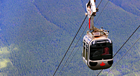 banff gondola alberta rocky mountains travel photography