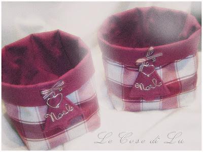 Le cose di lu cestini di stoffa la versione natalizia for Cestini fai da te
