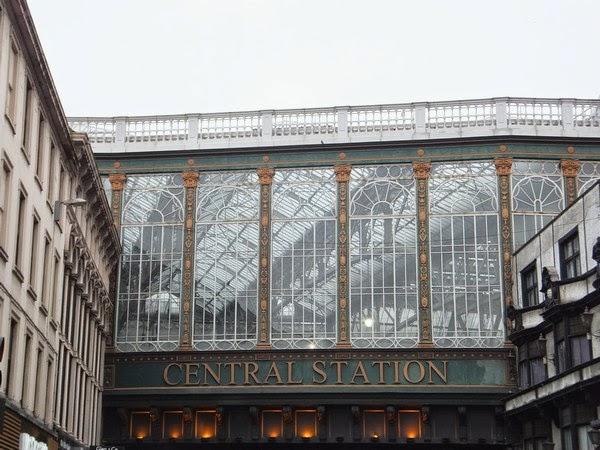 Glasgow Scotland écosse West End Central Station gare