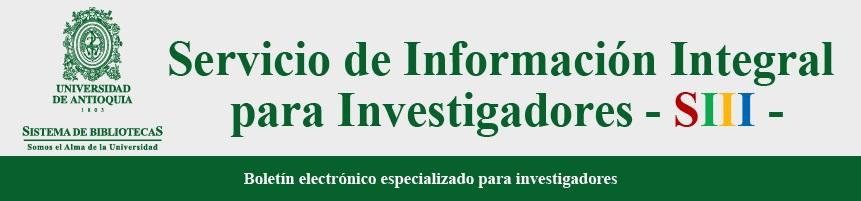 Boletín para Investigadores: Servicio de información integral para investigadores