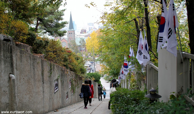 Escaleras patrióticas en Daegu