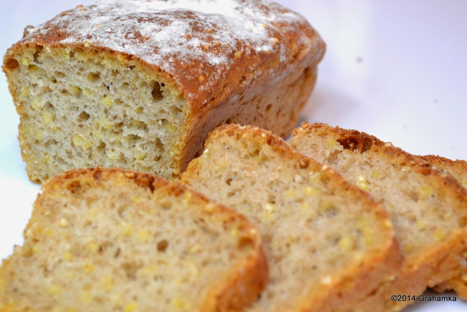 Mały chlebuś jaglany mleczny.