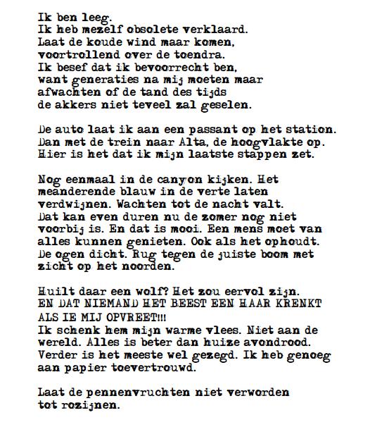 Gedicht met auto