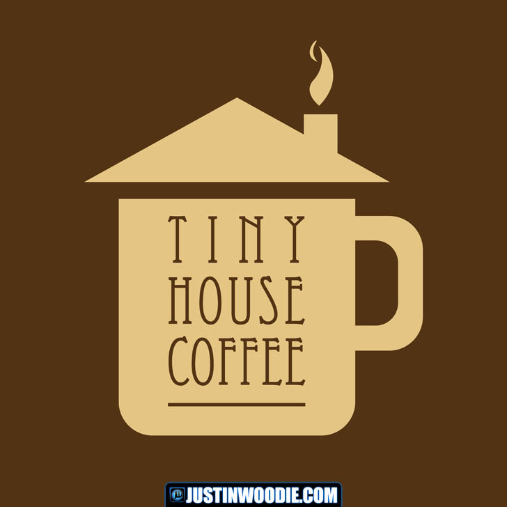 Tiny House Coffee Graphic Logo Design