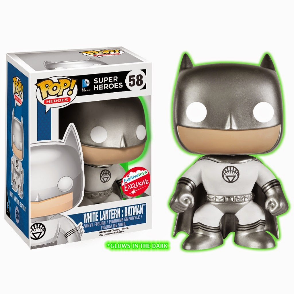 Fan Expo Canada 2014 Exclusive Glow in the Dark White Lantern Batman DC Comics Pop! Vinyl Figure by Funko