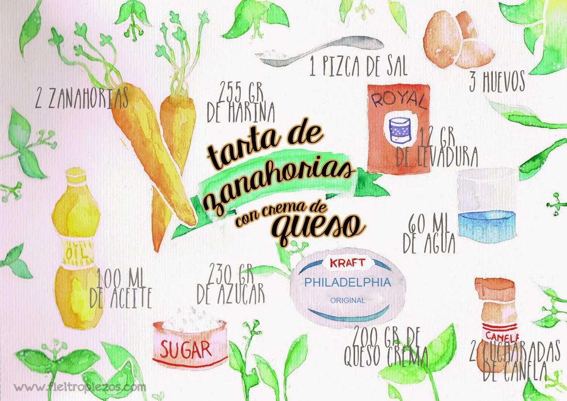 ingredientes tarta de zanahorias
