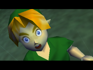 Ocarina of Time Link is shocked