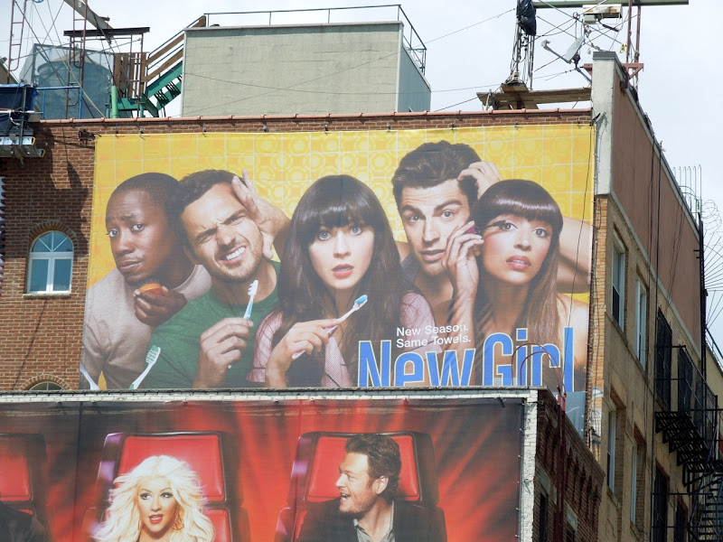 New Girl season 2 billboard NYC