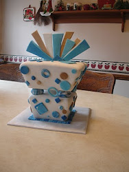 Inverted Gift Box Cake