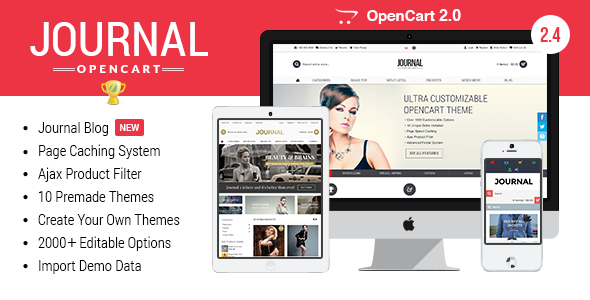 Journal – Advanced Opencart Theme Framework