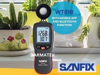 Jual Sanfix WT 81B Lux Meter (Tipe Bluetooth)