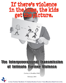 Cover of The Effects of Family-of-Origin Violence on Intimate Partner Violence report from the Crime Victims Institute.