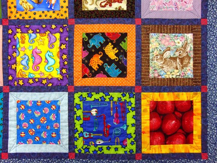 Robin Atkins, I Spy quilt, front detail