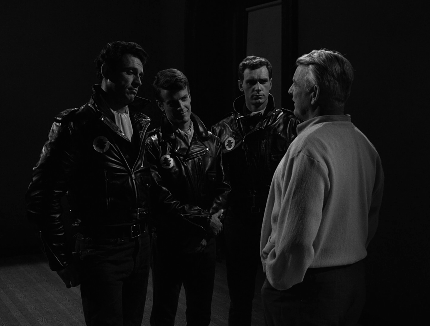 Black leather jacket twilight zone