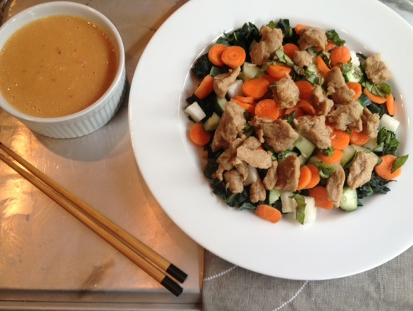 Thai Yum Gai Salad With Seitan Recipe