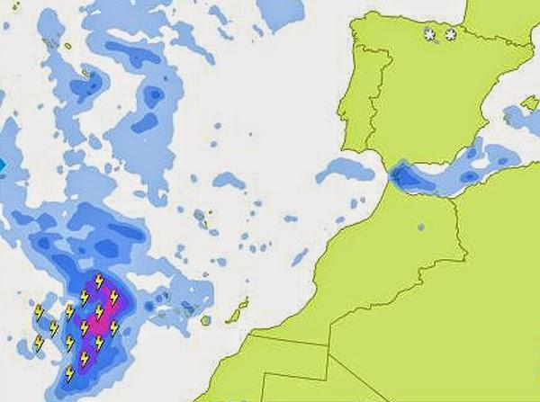 Más frío y lluvia Canarias 7 y 8 febrero
