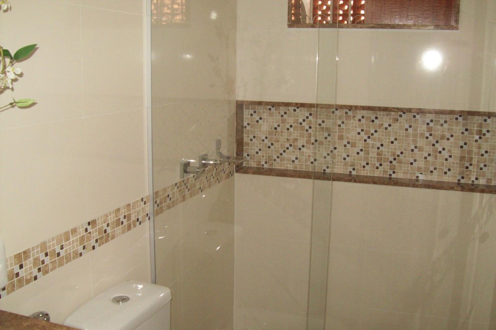 Construções Domingos: Banheiro com Nicho #935638 1600x1066 Banheiro Com Acabamento Com Pastilhas