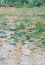 Brush strokes of the Impressionist artist Berthe Morisot