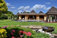 front view of tamarina golf and beach estate mauritius