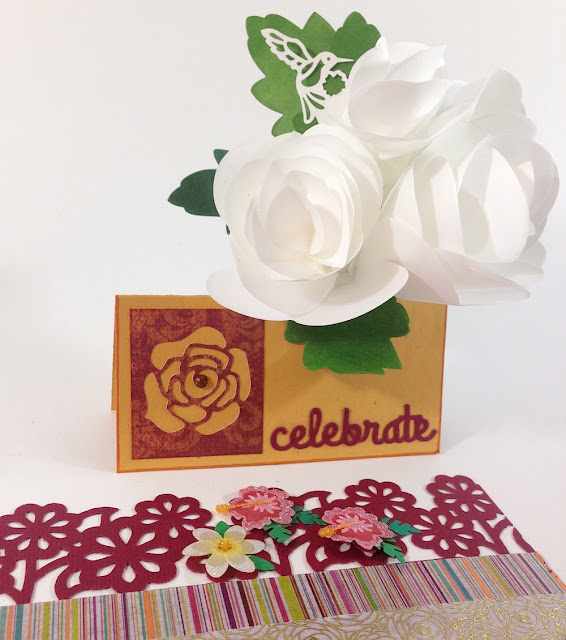 place card paper flower lisa fulmer