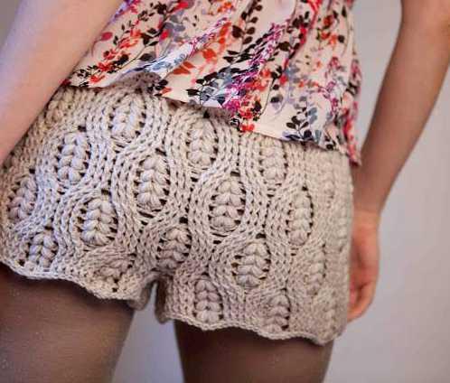 Pantalon Corto a Crochet o Ganchillo