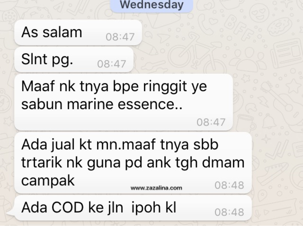 marine essence demam campak