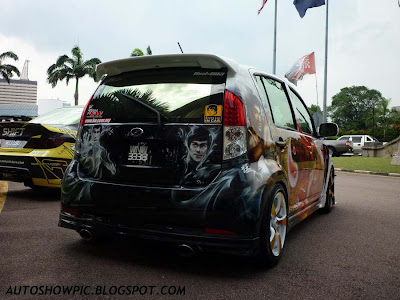 The Bruce Lee Myvi Autoshow Car