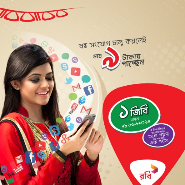 Robi sim new offer 1GB at 9tk