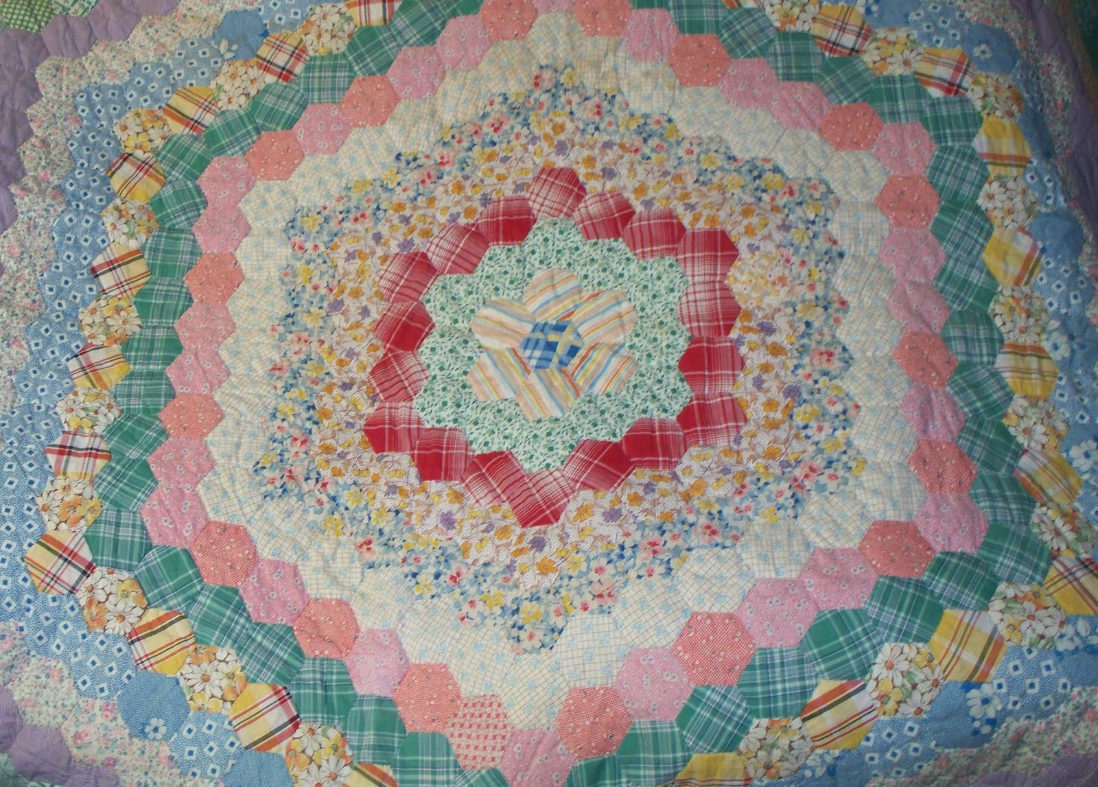 Quilting Template Hexagon : Cotton Kapers: The Antique