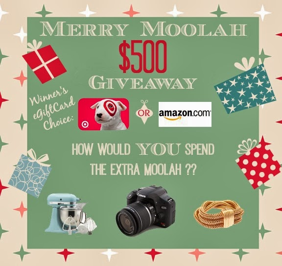 Merry Moolah $500 Gift Card Giveaway! Enter to Win!
