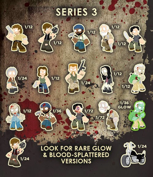 The Walking Dead Mystery Minis Blind Box Series 3 Checklist and Ratios by Funko