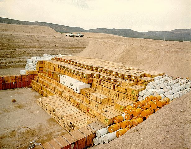 Low-level waste storage pit at the Nevada National Security Site